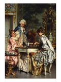 Playing Chess Giclee Print by Arturo Ricci