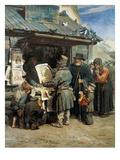 Kleiner Buchladen, 1876 Giclee Print by Viktor Michailow Wasnezow