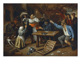 Gamblers Quarrelling, about 1664/65 Giclee Print by Jan Havicksz. Steen