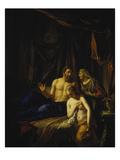 Sarah Fuehrt Abraham Hagar Zu Giclee Print by Adriaan van der Werff
