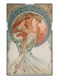 The Arts: Poetry, 1898 Giclee Print by Alphonse Mucha