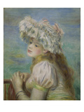 Portrait of a Young Woman in a Lace Hat, 1891 Print by Auguste Renoir