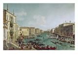 Regatta Auf Dem Canale Grande Vor Dem Palais Ca'Foscari Giclee Print by  Canaletto