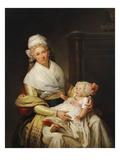 Bildnis Von Constantia Foster Mit Ihrem Sohn Giclee Print by Henri Pierre Danloux