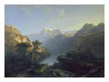 Der Urnersee, 1849 Giclee Print by Alexandre Calame