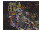 Stadtende III, 1917/1918. (Krumau) Giclee Print by Egon Schiele