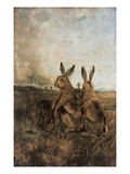 Hares Giclee Print by Fredrich Anton Wyttenbach