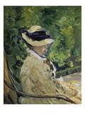 Madame Manet Im Garten Von Bellevue Giclee Print by Édouard Manet