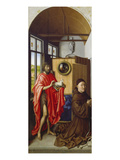 St. John the Baptist and the Donor, Heinrich Von Werl, about 1438 Giclee Print by  Master of Flemalle