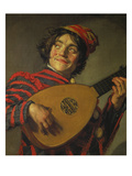 A Jester Playing the Lute, 1625 Giclee Print by Frans Hals