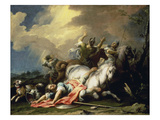 The Conversion of Saul Giclée-tryk af Jacopo Amigoni