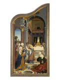 Wettenhausener Altar. Left Panel: Presentation in the Temple, 1524 Giclee Print by Martin Schaffner