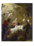 Adoration of the Shepherds, 1632 Lámina giclée por Gerrit van Honthorst