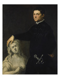 Bildnis Eines Vornehmen Juenglings Mit Einer Skulptur Der Lukretia Prints by Jacopo Robusti Tintoretto