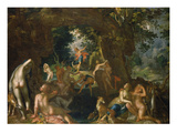 Diana and Actaeon, 1607 Print by Joachim Wtewael or Utawael