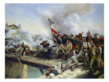 The Battle of Pont D'Arcole, 1826 Giclée-Druck von Emile Jean Horace Vernet