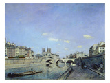 The Seine and Notre Dame in Paris, 1864 Giclee Print by Johan Barthold Jongkind
