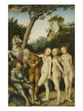 Das Urteil Des Paris, 1530 Giclee Print by Lucas Cranach the Elder