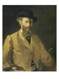 Self Portrait with a Palette Prints by Edouard Manet