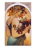 Obst, 1897 Poster von Alphonse Mucha