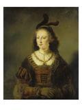 Bildnis Einer Frau Láminas por Ferdinand Bol