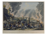 Das Brennende Moskau 1812/1813 Art by Johann Moritz Rugendas