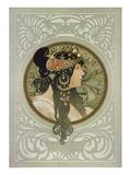Brunette, 1897 Giclee Print by Alphonse Mucha