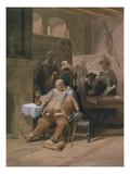 Falstaff Mustert Seine Rekruten (Detail) 1854 Giclee Print by Adolphe Schroedter