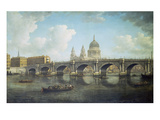 Blackfriars Bridge and St. Paul's Cathedral, about 1762 Poster by William Marlow