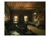 Arbeitszimmer Im Haus in Ostrowki, dem Landgut Von N.P.Miljukow, 1844 Giclee Print by Grigorij Wassiljew Soroko