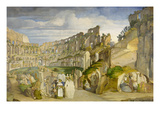 Kapuzinerpredigt Im Collosseum Giclee Print by Johann Anton Alban Ramboux