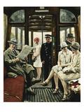 In Der Strassenbahn Poster by Paul Fischer