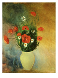 Poppies and Daisies Poster by Odilon Redon