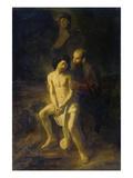 Abraham Und Isaac Vor Der Opferung Giclee Print by Reynier van Gherwen