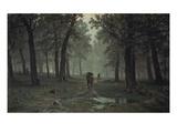 Regen Im Eichenwald, 1891 Giclee Print by Iwan Iwanowitsch Schischkin