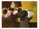 Washerwomen Delivering the Laundry, 1876/78 Giclée-tryk af Edgar Degas