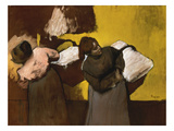 Washerwomen Delivering the Laundry, 1876/78 Giclee Print by Edgar Degas
