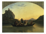 Ueberfahrt Ueber Die Elbe Am Schreckenstein Bei Aussig, 1837 Giclee Print by Ludwig Richter