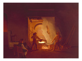 The Blacksmith's Shop (Ii.), 1837 Giclee Print by Ignantz Raffalt