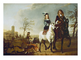 Reitendes Paar Giclee Print by Aelbert Cuyp