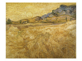 Wheatfield with Reaper, 1889 Giclee Print by Vincent van Gogh