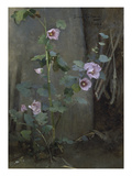 Mallows by a Wall Giclee Print by Gerda Rydberg-Tir&#233;n