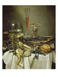 Fruehstuecksstilleben Mit Fisch Impression giclée par Pieter Claesz