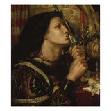 Jeanne D'Arc Kuesst Das Schwert Der Befreiung, 1863 Poster by Dante Gabriel Rossetti