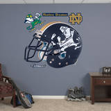 Notre Dame Leprechaun Helmet Wall Decal