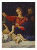 Hl.Familie, Sogenannte Madonna Del Velo. Kopie des Verschollenen Gemaeldes Affiches par  Raphael