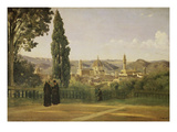 View of Florence from the Boboli Gardens, about 1835/40 Giclée-tryk af Jean-Baptiste-Camille Corot