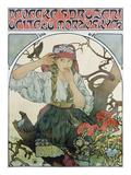 Poster 'Pévecké Sdruzeni Ucitelu Moravskych' (The Moravian Teachers' Choir), 1911 Giclee Print by Alphonse Mucha