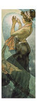 Alphonse Mucha - The Moon and the Stars: Pole Star, 1902 Digitálně vytištěná reprodukce