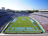 University of North Carolina: UNC: Kenan Stadium Endzone View Valokuvavedos